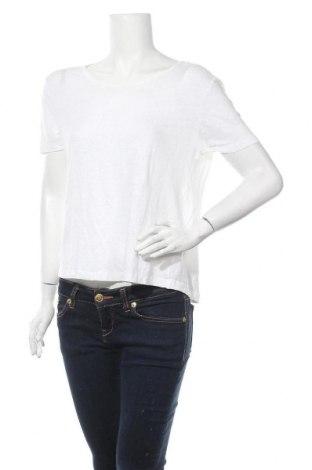 Дамска блуза American Vintage, Размер M, Цвят Бял, Лен, Цена 21,26лв.