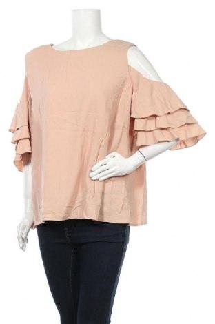 Дамска блуза Atmos & Here, Размер XXL, Цвят Бежов, Полиестер, Цена 18,90лв.