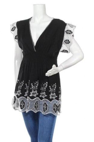 Дамска блуза BCBG Max Azria, Размер XL, Цвят Черен, Памук, Цена 64,50лв.