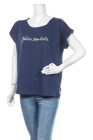 Дамска блуза Beach Time, Размер XL, Цвят Син, Памук, Цена 19,60лв.
