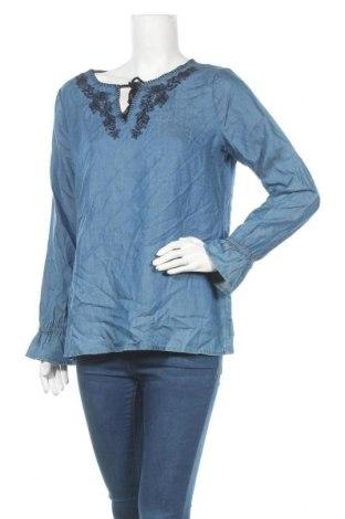 Γυναικεία μπλούζα Comma,, Μέγεθος M, Χρώμα Μπλέ, Lyocell, Τιμή 9,18€