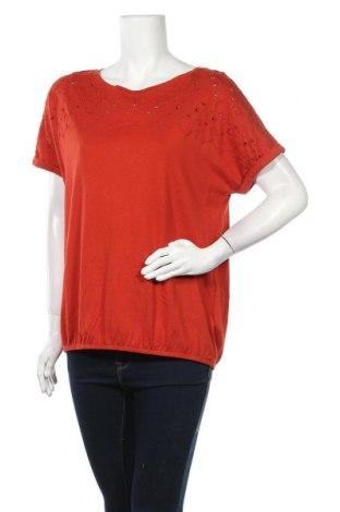 Дамска блуза Essentials by Tchibo, Размер L, Цвят Червен, 50% памук, 50% модал, Цена 23,10лв.
