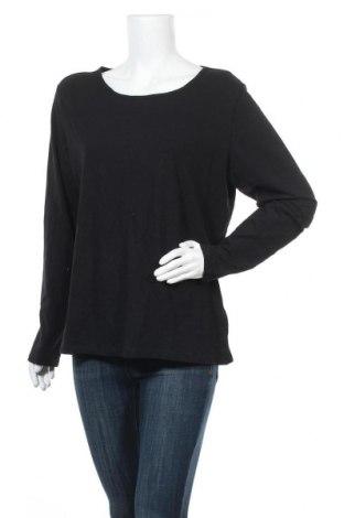 Дамска блуза H&M, Размер XL, Цвят Черен, 95% памук, 5% еластан, Цена 8,51лв.