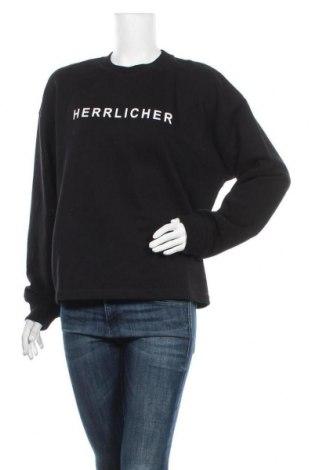 Дамска блуза Herrlicher, Размер L, Цвят Черен, 50% памук, 50% полиестер, Цена 53,30лв.