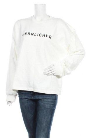 Дамска блуза Herrlicher, Размер L, Цвят Бял, 50% памук, 50% полиестер, Цена 46,80лв.