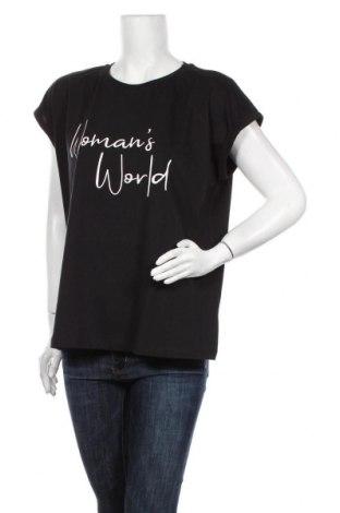 Γυναικεία μπλούζα Lascana, Μέγεθος XL, Χρώμα Μαύρο, Βαμβάκι, Τιμή 17,18€
