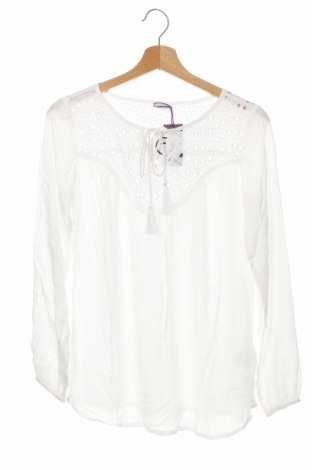 Γυναικεία μπλούζα Lascana, Μέγεθος XS, Χρώμα Λευκό, Βισκόζη, βαμβάκι, Τιμή 14,65€