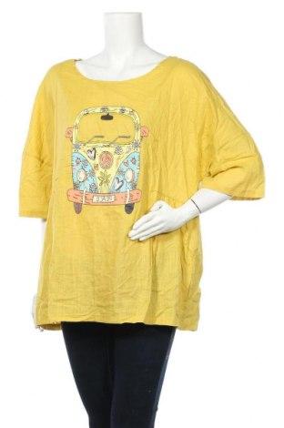 Дамска блуза Miss Look, Размер XL, Цвят Жълт, Памук, полиестер, Цена 8,51лв.