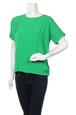 Дамска блуза Modstrom, Размер S, Цвят Зелен, Вискоза, Цена 43,07лв.