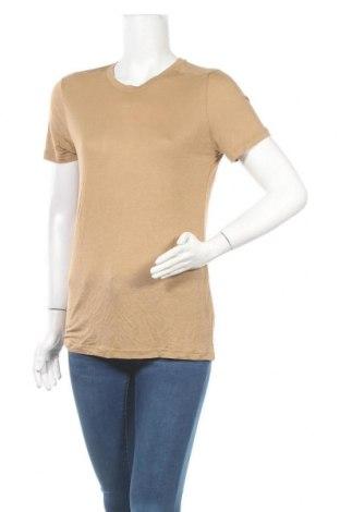 Дамска блуза Mtwtfss Weekday, Размер M, Цвят Кафяв, Вискоза, Цена 11,97лв.