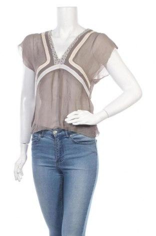 Дамска блуза Reiss, Размер S, Цвят Сив, Коприна, Цена 31,50лв.