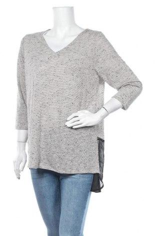 Дамска блуза Rockmans, Размер XL, Цвят Сив, Полиестер, памук, Цена 9,76лв.