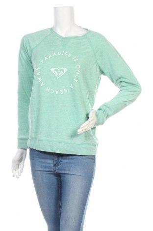 Дамска блуза Roxy, Размер XL, Цвят Зелен, 53% памук, 47% полиестер, Цена 33,97лв.