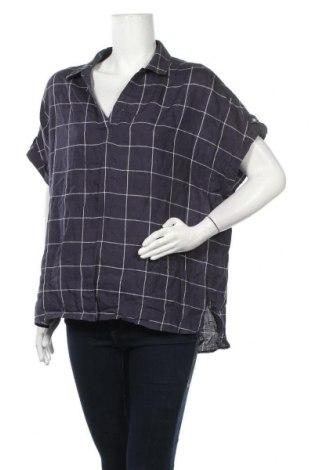 Дамска блуза Tahari, Размер L, Цвят Лилав, Лен, Цена 30,24лв.