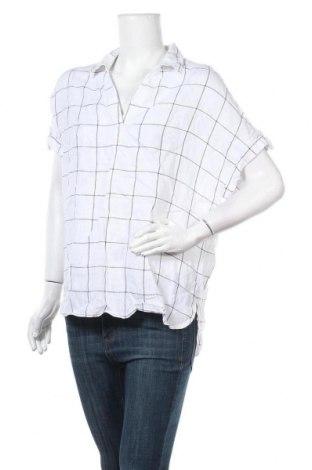 Дамска блуза Tahari, Размер M, Цвят Бял, Лен, Цена 30,24лв.
