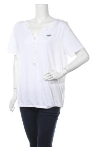 Γυναικεία μπλούζα Tom Tailor, Μέγεθος XL, Χρώμα Λευκό, 50% βαμβάκι, 50% μοντάλ, Τιμή 14,72€