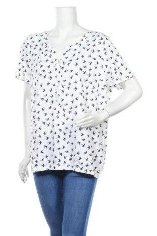 Γυναικεία μπλούζα Tom Tailor, Μέγεθος XL, Χρώμα Λευκό, 50% βαμβάκι, 50% μοντάλ, Τιμή 18,44€