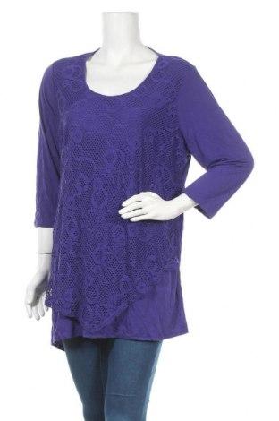 Дамска блуза Ts, Размер XL, Цвят Лилав, 50% полиестер, 50% модал, Цена 11,34лв.