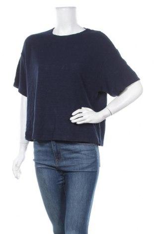 Дамска блуза Uniqlo, Размер L, Цвят Син, 100% памук, Цена 28,56лв.