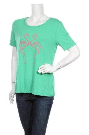 Дамска блуза Va Milano, Размер L, Цвят Зелен, 95% вискоза, 5% еластан, Цена 6,24лв.