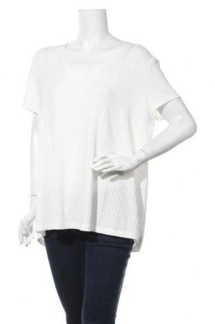 Дамска блуза Violeta by Mango, Размер XXL, Цвят Бял, 95% полиестер, 5% еластан, Цена 14,96лв.