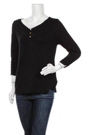 Дамска блуза Vivance, Размер M, Цвят Черен, 95% вискоза, 5% еластан, Цена 34,50лв.