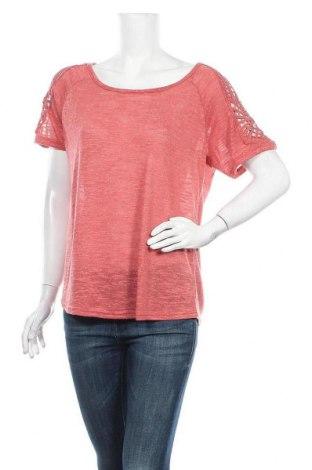 Дамска блуза Vivance, Размер L, Цвят Розов, 90% полиестер, 10% лен, Цена 19,04лв.