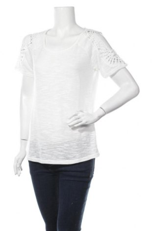 Дамска блуза Vivance, Размер S, Цвят Бял, 90% полиестер, 10% лен, Цена 19,60лв.