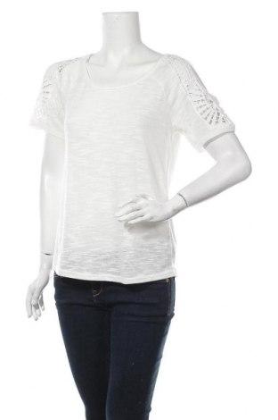 Дамска блуза Vivance, Размер M, Цвят Бял, 90% полиестер, 10% лен, Цена 14,70лв.