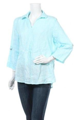 Дамска блуза W. Lane, Размер XL, Цвят Син, Лен, Цена 10,97лв.