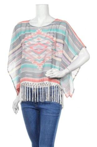 Дамска блуза Xhilaration, Размер M, Цвят Многоцветен, 98% полиестер, 2% еластан, Цена 12,50лв.