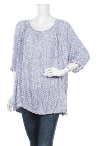 Дамска блуза Zizzi, Размер 4XL, Цвят Син, Вискоза, Цена 14,18лв.