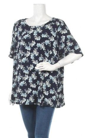 Дамска блуза Zizzi, Размер 3XL, Цвят Син, Вискоза, Цена 15,17лв.
