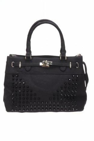 Дамска чанта, Цвят Черен, Текстил, Цена 14,18лв.