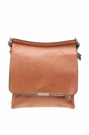 Дамска чанта, Цвят Кафяв, Еко кожа, Цена 28,35лв.