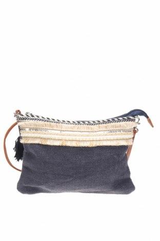 Дамска чанта, Цвят Син, Текстил, еко кожа, Цена 22,05лв.