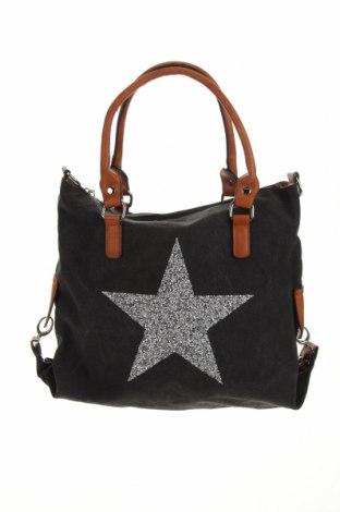 Дамска чанта, Цвят Сив, Текстил, еко кожа, Цена 30,45лв.