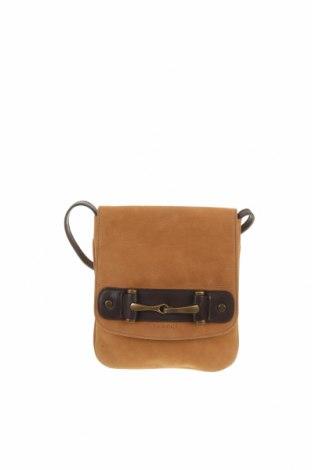 Дамска чанта, Цвят Бежов, Естествена кожа, Цена 41,90лв.
