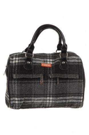 Дамска чанта, Цвят Сив, Текстил, еко кожа, Цена 17,64лв.