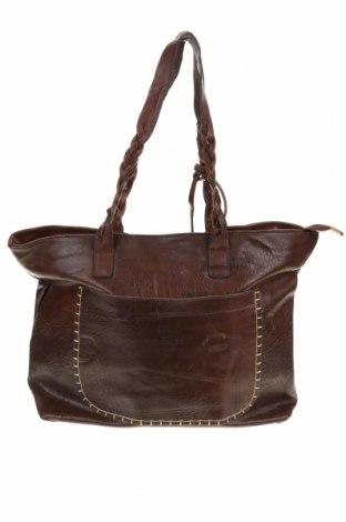 Дамска чанта, Цвят Кафяв, Еко кожа, Цена 21,84лв.