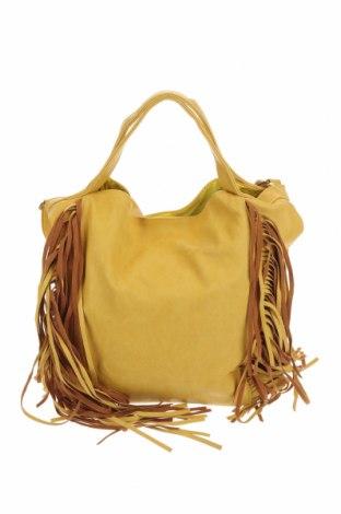 Дамска чанта Amber Rose, Цвят Жълт, Еко кожа, Цена 30,98лв.