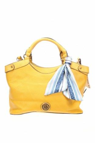 Дамска чанта Anne Klein, Цвят Жълт, Еко кожа, Цена 125,21лв.