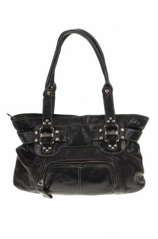 Дамска чанта B.Makowsky, Цвят Черен, Естествена кожа, Цена 46,41лв.