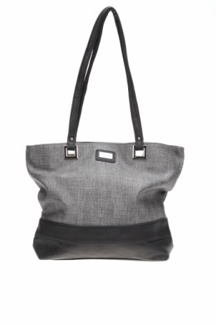 Дамска чанта Cabrelli, Цвят Сив, Текстил, еко кожа, Цена 22,84лв.