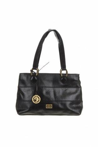 Дамска чанта Cellini Collection, Цвят Черен, Естествена кожа, Цена 65,10лв.