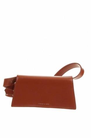 Дамска чанта Charles & Keith, Цвят Кафяв, Еко кожа, Цена 16,17лв.