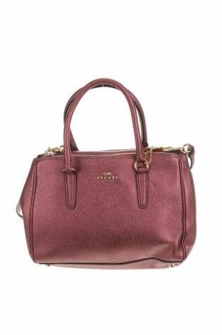 Дамска чанта Coach, Цвят Розов, Естествена кожа, Цена 288,23лв.