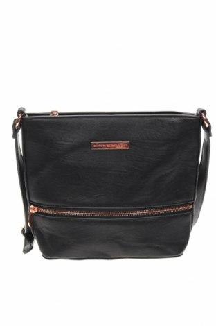 Дамска чанта Colette By Colette Hayman, Цвят Черен, Еко кожа, Цена 14,70лв.