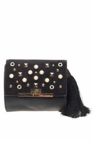 Дамска чанта Forever 21, Цвят Черен, Еко кожа, текстил, Цена 8,82лв.