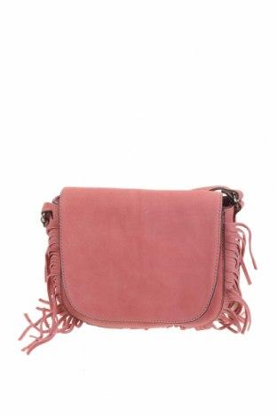 Дамска чанта JAG, Цвят Розов, Естествен велур, Цена 115,13лв.